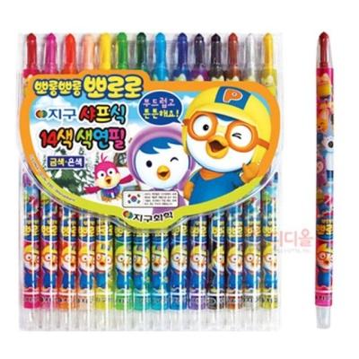 뽀로로 샤프식 색연필 14색 캐릭터 어린이 색연필세트