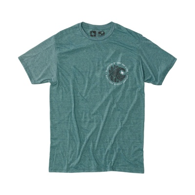 [히피트리] Brushstroke Tee - Heather Teal