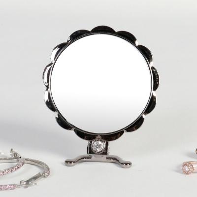 큐티메탈 데이지 원형 접이 콤팩트 손거울 흑진주색상