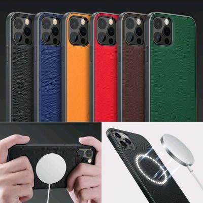 아이폰12 MINI 맥세이프 무선충전 슬림 가죽 폰케이스