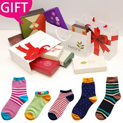 [GIFT] 행복가득, 양말 선물세트 *고급스러운 선물 포장* (남녀 2종,3종,4종)