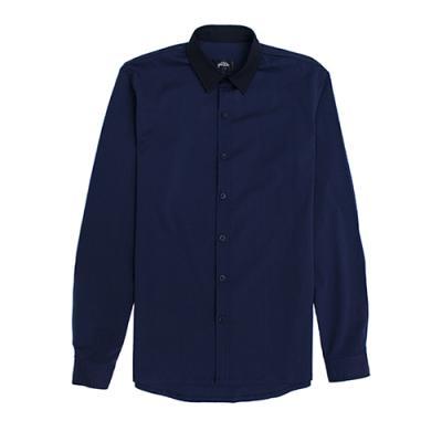 [게타] Getta Navy collar shirt (navy)