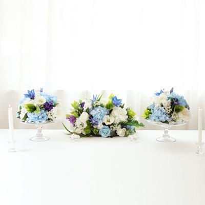 블루 수국 꽃볼 센터피스세트