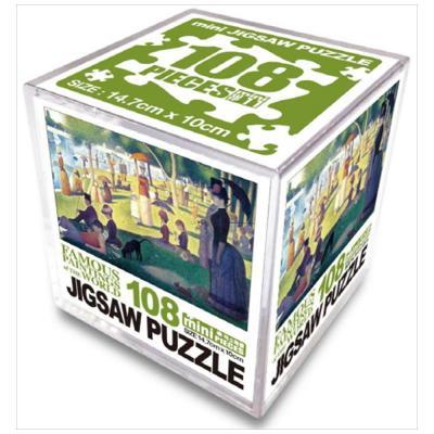 명화 직소퍼즐 108p 미니: 그랑즈트섬의 일요일 오후