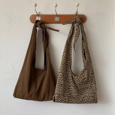 포싱 여성 레오파드 베이직 끈에코백 숄더백 천가방