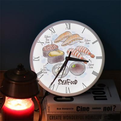 ng345-LED시계액자25R_맛있는초밥일러스트