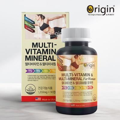 오리진 멀티비타민 앤 미네랄 포우먼 1,250mgX90캡슐