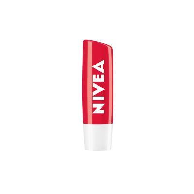 니베아 립케어 스트로베리샤인 자연스러운 립밤 보습