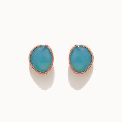 제이로렌 M03467 12월탄생석 블루아게이트 귀걸이