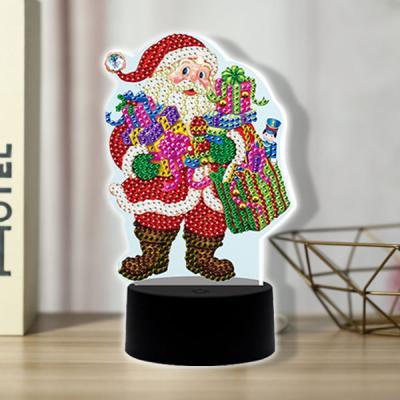 산타 할아버지 diy 십자수 무드등 어린이 보석십자수