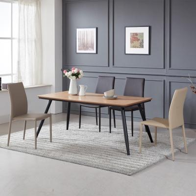 토바 무늬목 식탁 세트A 1600 + 의자 4개포함