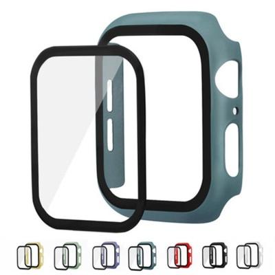 애플워치 5 4 3 2 1 풀커버 강화필름 컬러 하드케이스