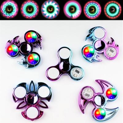 LED 3구 회전 메탈 피젯 스피너 베어링 키덜트 장난감