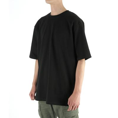 [19B5] 반팔 티셔츠 (남녀공용) - PLAIN BLACK