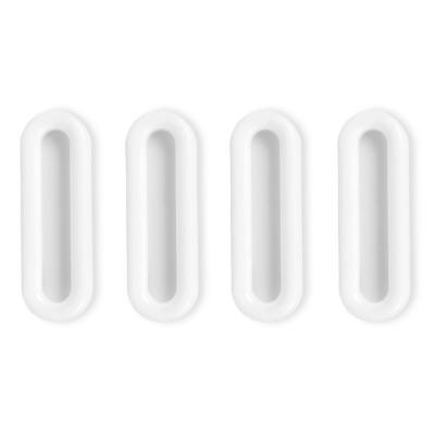 베란다 발코니 접착식 안전 유리문 창문손잡이 4P세트