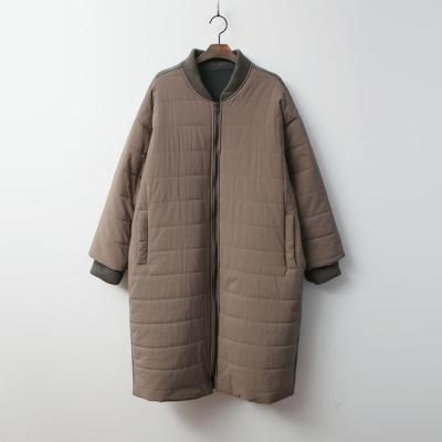 Wool Combo Padding Coat - 플리스안감