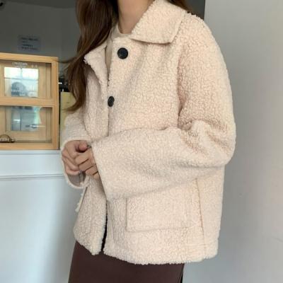 여성 여자 가을 자켓 재킷 리메드 양털 루즈무스탕