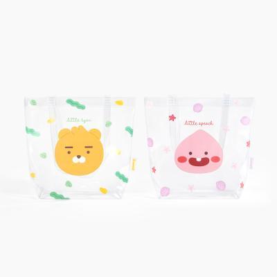 카카오 리틀프렌즈 미니 PVC 투명 비치백