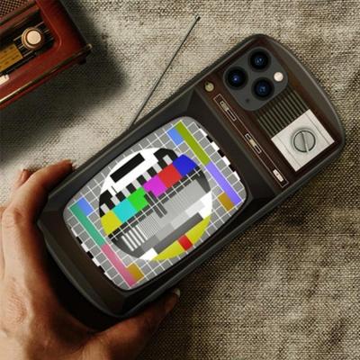 아이폰11 promax xr xs SE2 레트로TV 강화유리 케이스