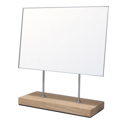 사각면치원목거울