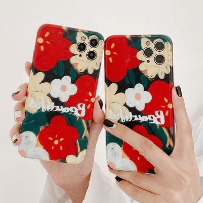 아이폰 11 pro max 프로 플라워 꽃 카메라보호 케이스
