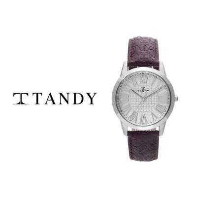 TANDY 탠디 클래식 여성용 커플 가죽시계 1015F WT_BR