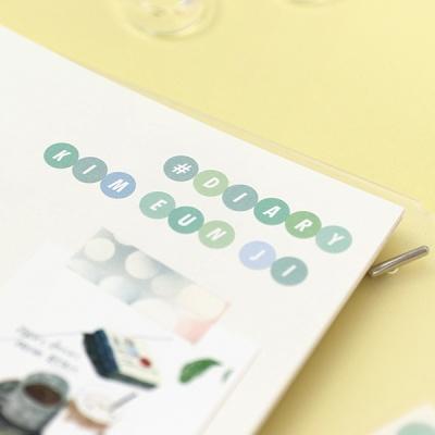 컬러팔레트 스티커 - 알파벳&숫자