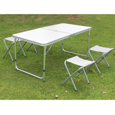 4인용 접이식 캠핑테이블 의자세트 화이트