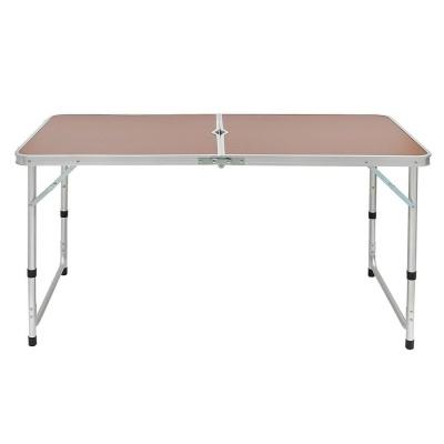 높이조절 접이식 캠핑테이블 브라운 야외용테이블