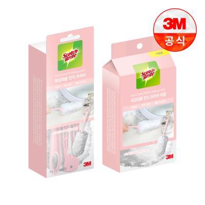 [3M]뉴 화장대용 먼지떨이 핸들+리필 3입