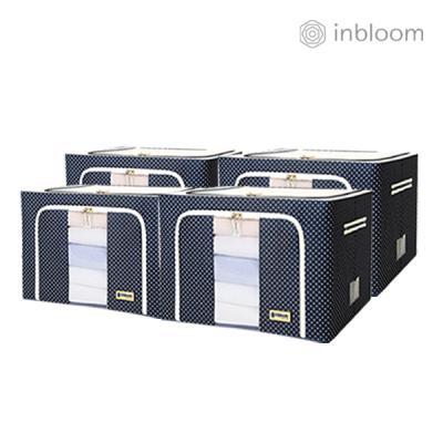인블룸 4개세트 도트 리빙박스 100L 네이비