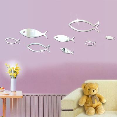 3D 입체벽지 물고기 포인트 벽지