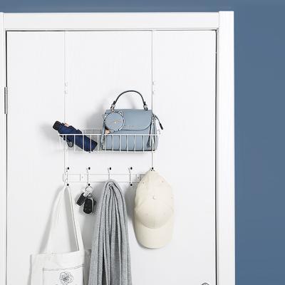욕실 소품 주방 도어 메탈 문걸이 수납 선반 (1단)
