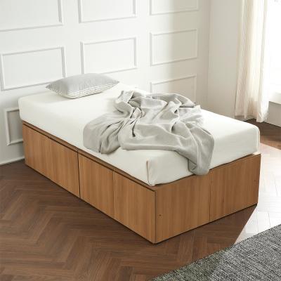 우앤 대용량 도어형 높은침대 침대SS+독립 매트리스