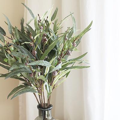 [콩지] 윌로우 열매 유칼립투스 가지 조화 1P