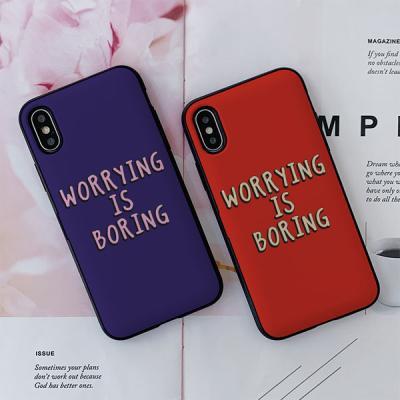 아이폰X/XS BORING 카드케이스