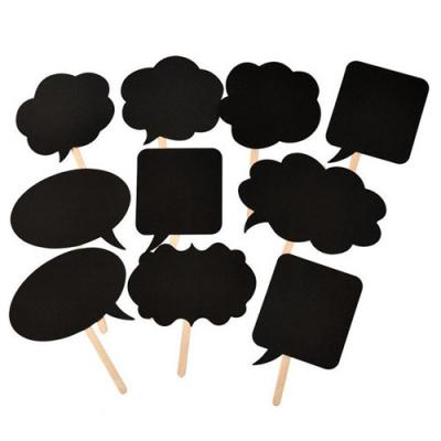블랙 스피치 버블 프롭스 set