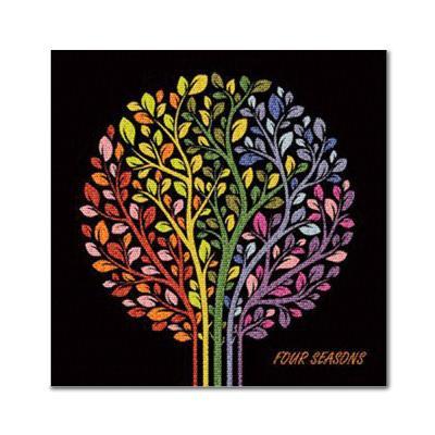 DIY 보석십자수 - 불꽃나무 BE05 (25x25)