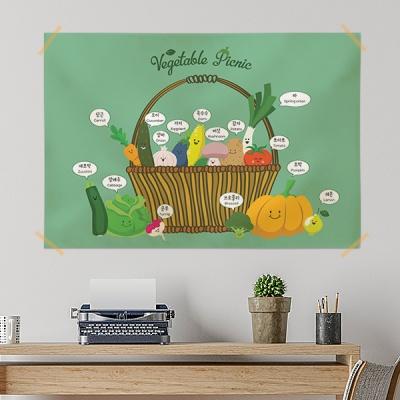 키즈 패브릭 포스터 / 교육용 베이비 포스터