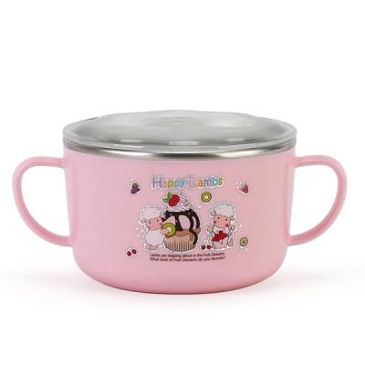 해피램 유아 스텐 라면기(핑크)