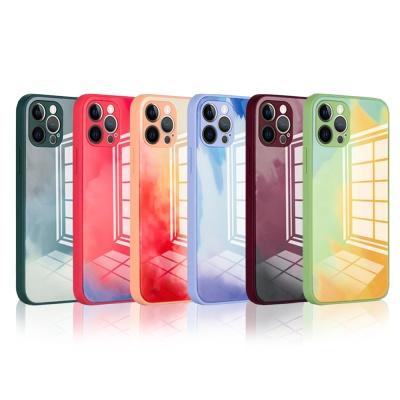 아이폰 12 미니 pro max 렌즈보호 강화 심플 케이스