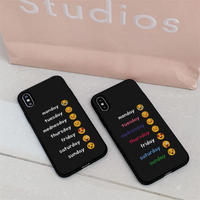 아이폰8 요일이모지 카드케이스
