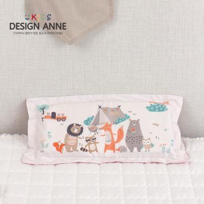 [디자인엔] 알러지케어 캠핑 키즈메모리폼베개-오렌지