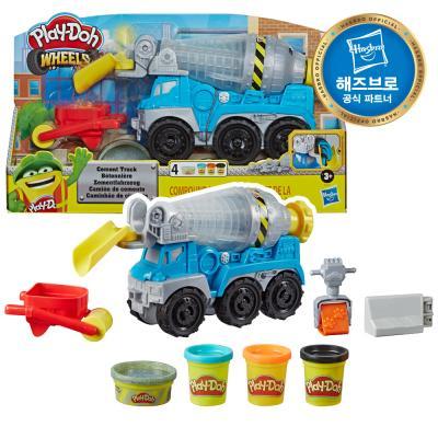 플레이도우 휠 시멘트 트럭 세트 클레이 플레이도