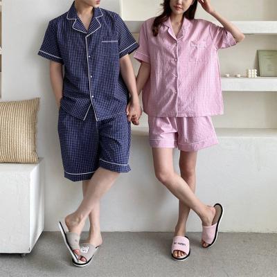 Seersucker Check Pajama Set - 커플룩
