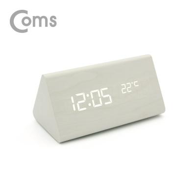 디지털 우드 LED 탁상용 시계 LCBB819 (WHITE)
