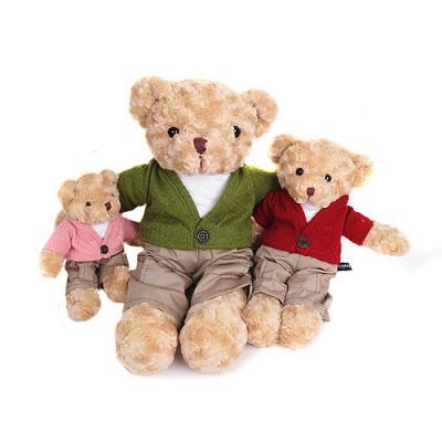 가디건 테디베어 인형-남자곰