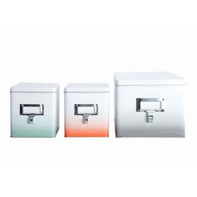[House Doctor]Storage tin box, fading, set of 3 Gt0710 스토리지