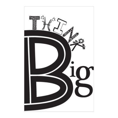 왈가닥스 타이포그래피 포스트카드 엽서 - think big