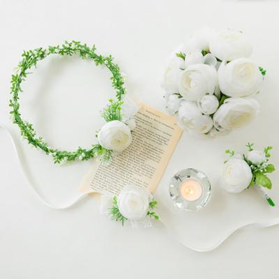 실크플라워 라넌큘러스 웨딩set [2color]